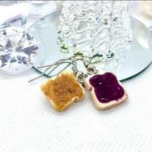 PB&J Peanut Butter & Jelly Earrings